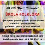 """Počinje upis u Školu folklora KIC-a """"Budo Tomović"""""""